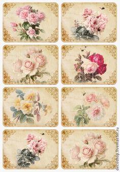 рисовая бумага для декупажа Пастельные розы - Декупаж,рисовая бумага,рисовая бумага с рисунком