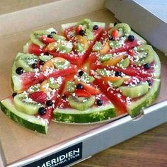 pizza de melancia!
