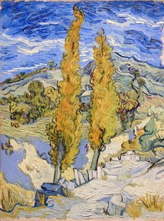 Vincent van Gogh Two Poplars on a Hill 1889
