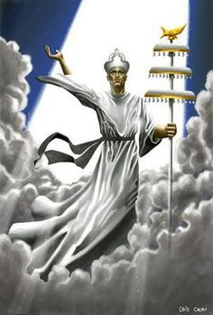 OrixaNlá (Oxalá) ou Obatalá, o mais respeitado Orixá, Pai de todos os Orixás e dos seres humanos. - Oxalá, orixá do Branco, da Paz, da Fé.- Oxalá - linhadasaguas.com.br