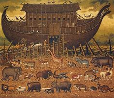 This is the story of Noah's Ark. Noah's ark relates to Baptism because the world was cleansed and then born anew with the power of God. This DIRECTLY relates to baptism (straight from your power point :)).