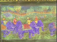 Aren't these magnificent elephants? Probably from a story out of ancient India - Grade 5, Waldorf School of San Diego. I'd love to be a student in this teacher's class.