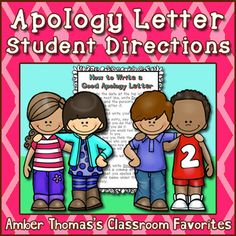 This handout gives clear, explicit instructions for a child learning how to write a letter of apology. Help your students learn about empathy by thinking through the effects their actions had on another child. It may even help them improve their writing skills by using a checklist!  Currently $0.50