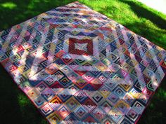 Old Antique Hand Quilted Log Cabin Quilt, approx 150 years old 68 ... : old quilts value - Adamdwight.com