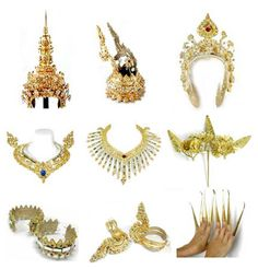 Picture of Thai Cultural Dancer Costume Accessories