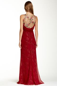 Marchesa Notte Embroidered Floral Silk Gown by Marchesa on @nordstrom_rack