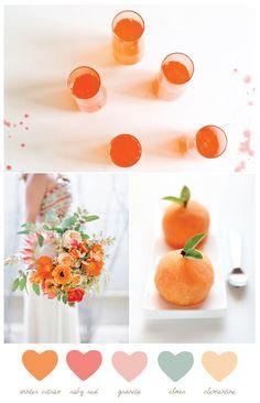 Color Palette: Winter Citrus + Granita
