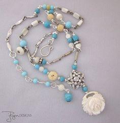 Vintage Repurposed Necklace - Uniquely Designed - JryenDesigns