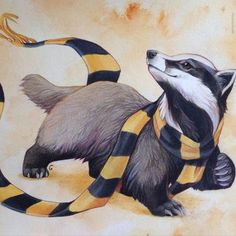 Badger with Scarf