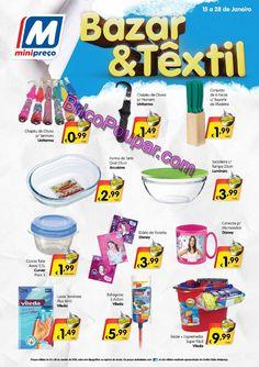 Antevisão Promoções Folheto Minipreço - de 15 a 21 de Janeiro - Bazar e Textil / Eletrodomésticos