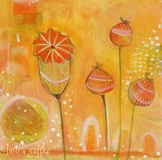 Laura's ReVision 118: positive poppy painting ‹ Laura TWO Tina www.lauraTWOtina.com