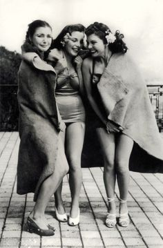 Chilly after a Swim, 1940's