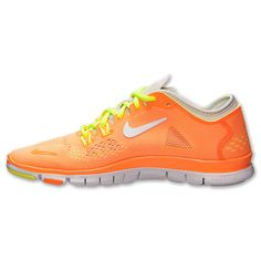 brand new 613d6 9244a  shoes  womens  sneakers Nike Free 5.0 Tr Fit 4 Breath Womens Atomic Orange  Fluorescent Yellow 2015 shoes