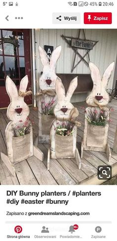 Celebrate Easter & Spring season with an outdoor decor. From Porch decoration to door decoration ot Yard decor, get best DIY Easter Outdoor Decor ideas here Spring Crafts, Holiday Crafts, Thanksgiving Crafts, Wooden Crafts, Diy And Crafts, Diy Crafts For Easter, Room Crafts, Wooden Decor, Homemade Crafts