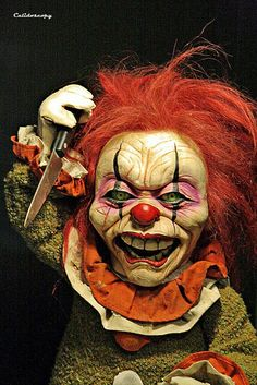 Creepy clown doll