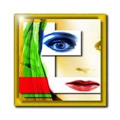 "Abstract Female Face - 12 Inch Ceramic Tile by Susan Brown Designs. $22.99. Clean with mild detergent. High gloss finish. Construction grade. Floor installation not recommended.. Dimensions: 12"" H x 12"" W x 1/4"" D. Image applied to the top surface. Abstract Female Face Tile is great for a backsplash, countertop or as an accent. This commercial quality construction grade tile has a high gloss finish. The image is applied to the top surface and can be cleaned with..."