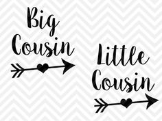 Big Cousin Little Cousin SVG and DXF Cut File • Png • Download File • Cricut • Silhouette