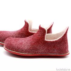 LUCIELALUNE felted merino wool loafers barefoot shoes unisex slip on slippers women men retirement c Rothys Shoes, Felt Shoes, Clog Slippers, Felted Slippers, Womens Slippers, Womens Flats, Merino Wool Shoes, Sandro, Barefoot Shoes