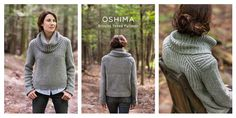 Oshima by Jared Flood, brioche yoked pullover.  i would make mine with a standard collar and cuffs, but love the yoke shaping and how cozy this looks!
