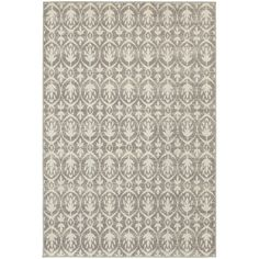 Style Haven StyleHaven Distressed Leaves Grey/Ivory Indoor-Outdoor Area Rug X Size x (Polypropylene, Geometric) Geometric Rug, Geometric Designs, Polypropylene Rugs, Transitional Rugs, Rectangular Rugs, Indoor Outdoor Area Rugs, Outdoor Decor, Outdoor Planters, Outdoor Furniture