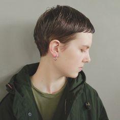 Pin on イメージ Pin on イメージ Tomboy Haircut, Short Hair Cuts, Short Hair Styles, Bowl Haircuts, Very Short Haircuts, Salon Style, Cut My Hair, Pixie Hairstyles, About Hair