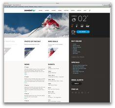 Snowbird.com by Rally Interactive , via Behance