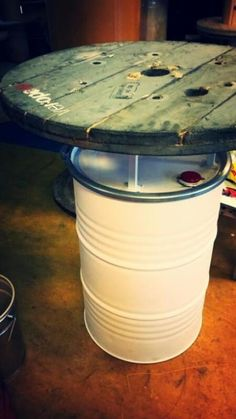 Car Furniture, Barrel Furniture, Oil Barrel, Barrel Table, Oil Drum, Steel Drum, Man Cave Bar, Woman Cave, Bar Interior
