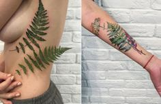 Inventive Leaf Tattoos by Rit Kit