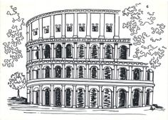 The Colosseum in Rome is one of the most popular tourist attractions of the world. I last visited the city many years ago and took pictures from which to produce this drawing. It was drawn on an A4…