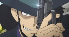 Lupin III Part V Episode: 23 (f*cking baddass cowboy Jigen ) Animation Art, Awesome Anime, Anime Figures, Animation, Art, 90s Anime, Anime, Thief Character, Manga