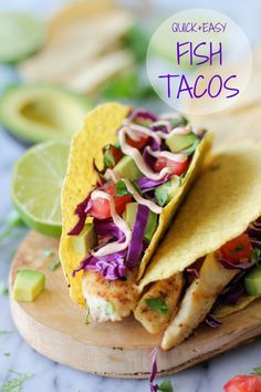 Fish Tacos with Chipotle Mayo - Quick and easy fish tacos with a chipotle mayo drizzle – perfect for those busy weeknights!