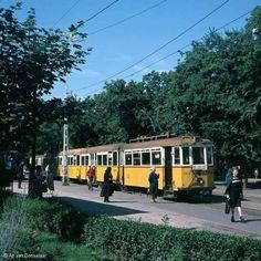 1976, Czabán Samu (Széchenyi tér) és az 55-ös villamos.