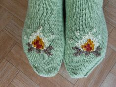 Slippers knitting pattern  Knit slippers by CuteCreationsByLea