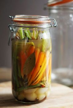 Quick Pickles for a Bloody Mary   HonestlyYUM