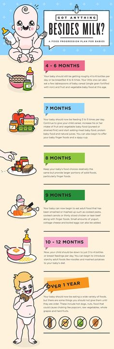 Food Progression Plan for Babies