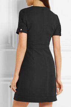 Gucci - Faux Pearl-embellished Wool And Silk-blend Mini Dress - Black - IT