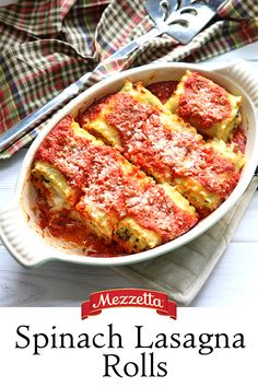Everybody loves lasagna and we are no exception! Our Napa Valley Homemade pasta sauce is the perfect complement to these creamy, cheesy, perfectly portioned Spinach Lasagna Rolls. Get rolling here!