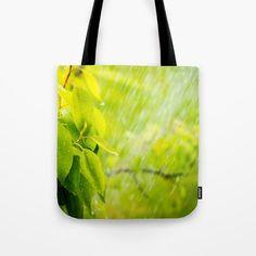 Rainy day Tote Bag by karidesign Poplin Fabric, Hand Sewn, Original Artwork, Stress, Reusable Tote Bags, America, Stitch, Sewing, Shoulder