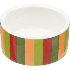 Petco Small Animal Ceramic Bowl in Stripes
