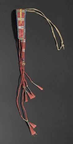 Crow Quilled and Beaded Awl Case, - Cowan's Auctions