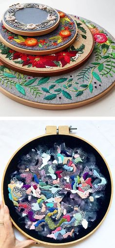 Embroidery inspiration // hoop art