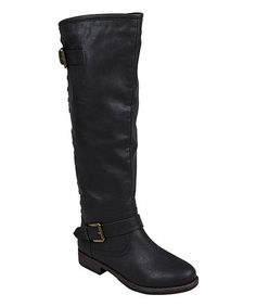 Look at this Black Stud Spokane Wide-Calf Boot by Journee Collection Crazy Shoes, Me Too Shoes, Durango Boots, Wide Calf Boots, Kinds Of Shoes, Fashion Boots, Fall Fashion, Fashion Ideas, Riding Boots