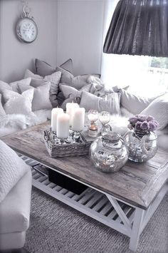 A modern living room with a soft touch!