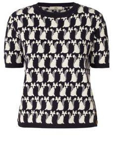 Fox Fairisle Short Sleeve Sweater