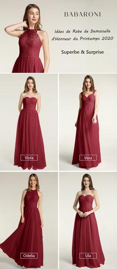 Acheter Femmes Roses En Mousseline De Soie Robe Taille Haute Étage Longueur Une Épaule Plissée Dentelle Parti De Mariage Demoiselle D'honneur Robes