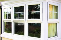 mock sash upvc windows - Google Search Upvc Windows, Sash Windows, Window Frames, Window Ideas, Bedroom Loft, Girls Bedroom, Frames Ideas, Through The Window, House Exteriors