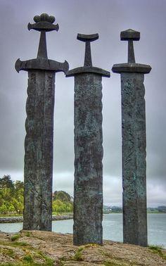 Viking Swords at Stavanger Swords Monument - Norway