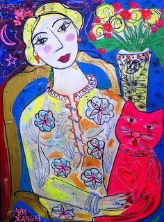 isabelle tuchband Woman With Cat