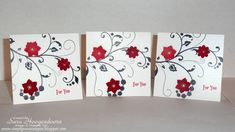 Mini Flowering Flourishes by shoogendoorn - Cards and Paper Crafts at Splitcoaststampers