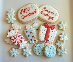 Wintery Holiday Cookies by LizyBsbakeshop on Etsy, $42.00